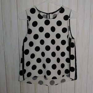 Zara Basic polka dot blouse